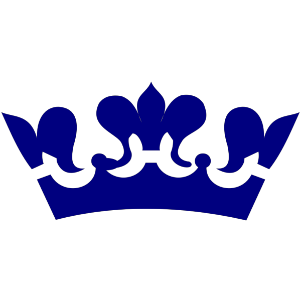 Crown In Blue PNG clipart