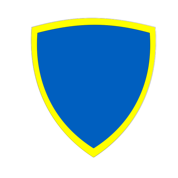 Blue Yellow Security Shield PNG clipart