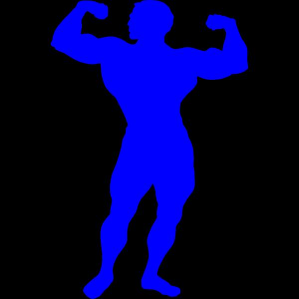 Bodybuilder Blue PNG Clip art