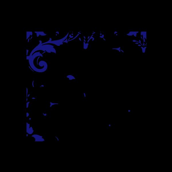 Dark Blue Damask PNG Clip art