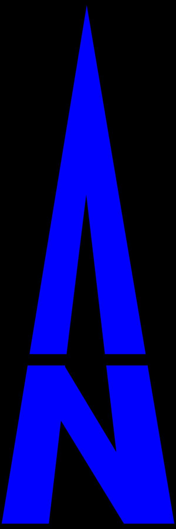 Bent Arrow Blue PNG Clip art