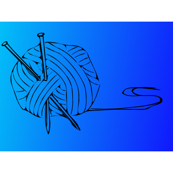 Knitting Needles With Ball Of Yarn  PNG Clip art