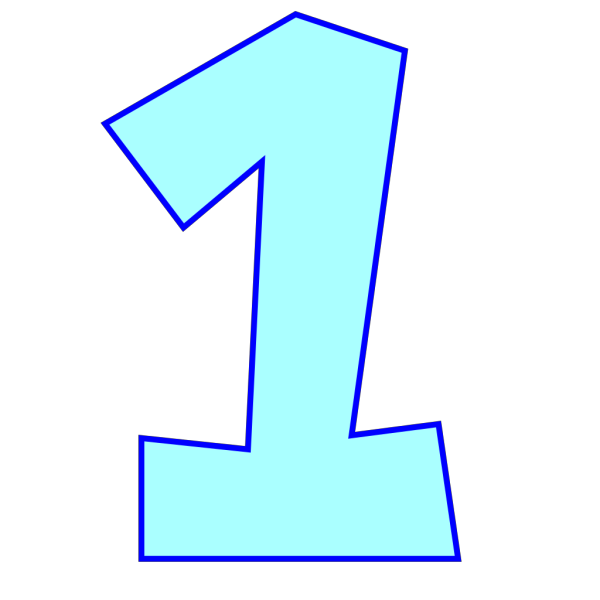 Number One (powder Blue) PNG Clip art