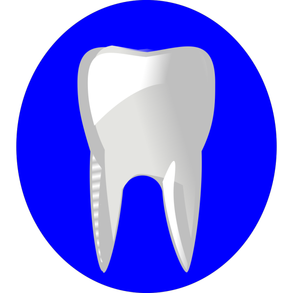 Tooth With Blue Outline PNG Clip art