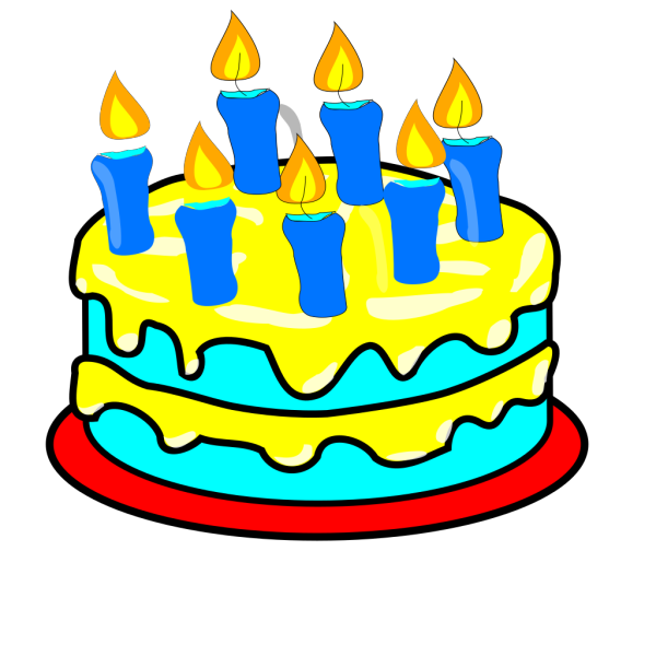 Cake 7 Candles PNG Clip art