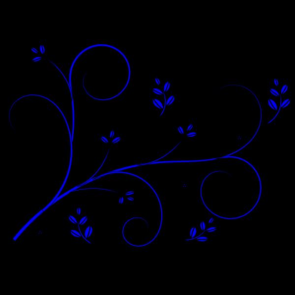 Floral Design Blue PNG Clip art