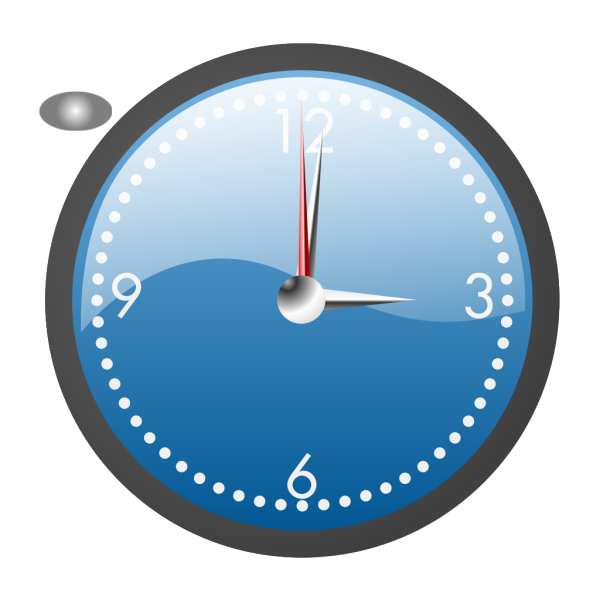 A Blue And Chrome Clock PNG Clip art