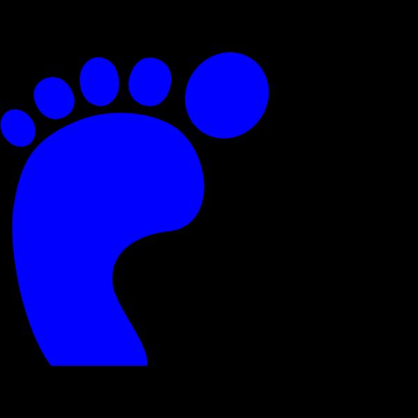 Blue Foot Print  PNG Clip art
