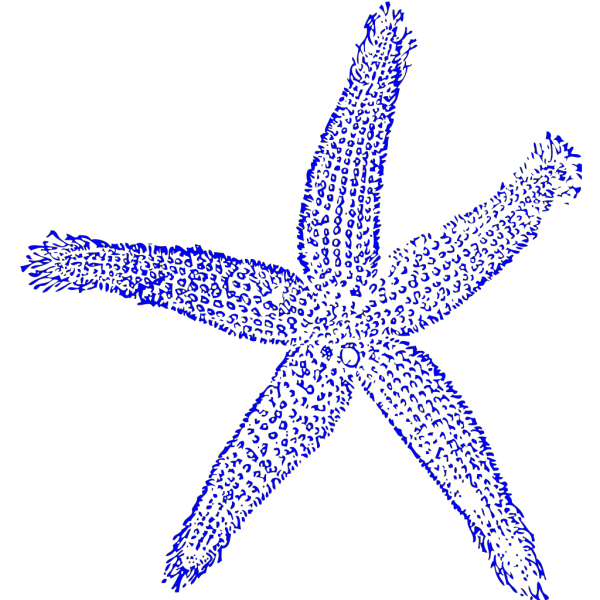 Starfish Blue PNG Clip art