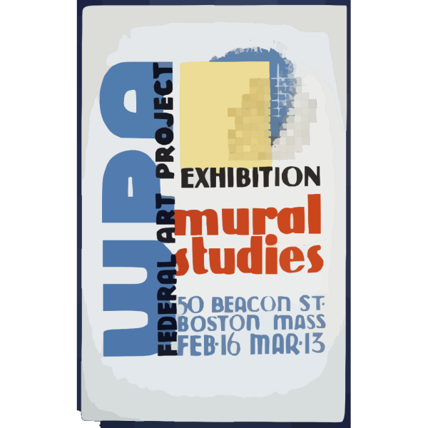 Wpa Federal Art Project Exhibition - Mural Studies PNG Clip art