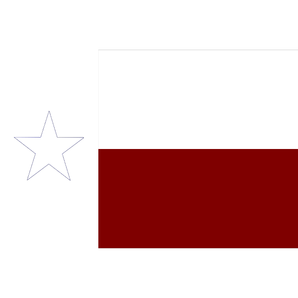Texas Flag With Border PNG Clip art