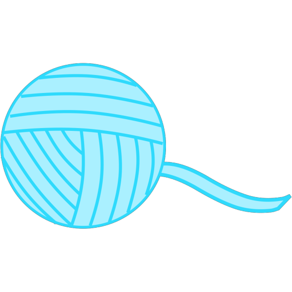 Light Blue Yarn PNG Clip art