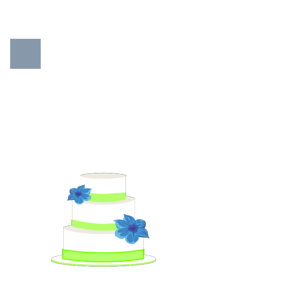Cake Blue And Green Small PNG Clip art