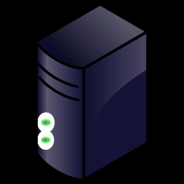 Narrow Server Rack Blue PNG Clip art