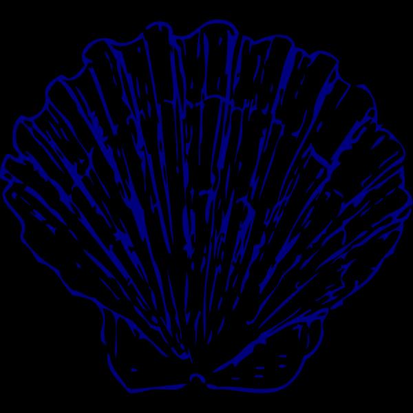 Blue Seashell Sand PNG Clip art