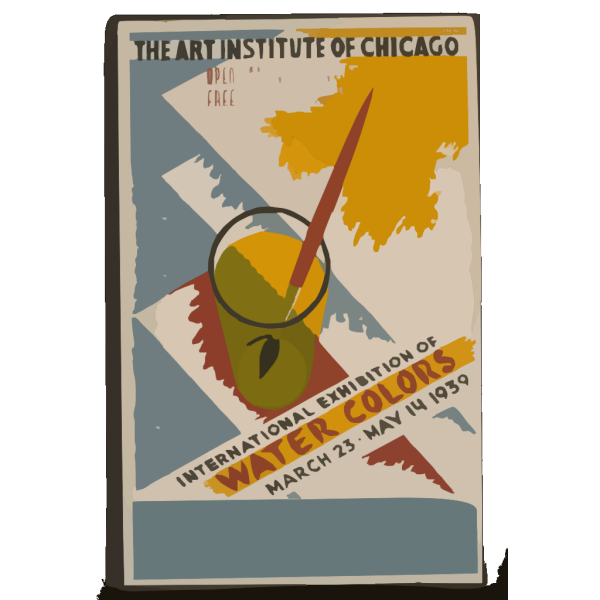 International Exhibition Of Water Colors The Art Institute Of Chicago - March 23 - May 14 1939 / Gregg. PNG Clip art