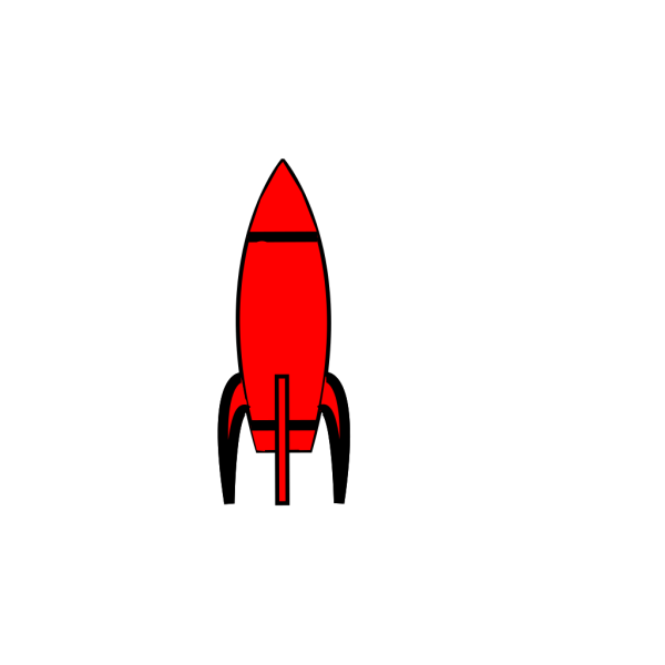 Blue Rocket 2 PNG Clip art