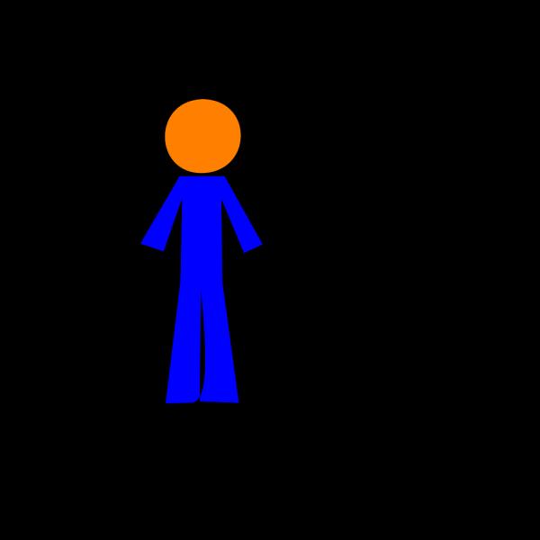 Personorangeblue PNG Clip art