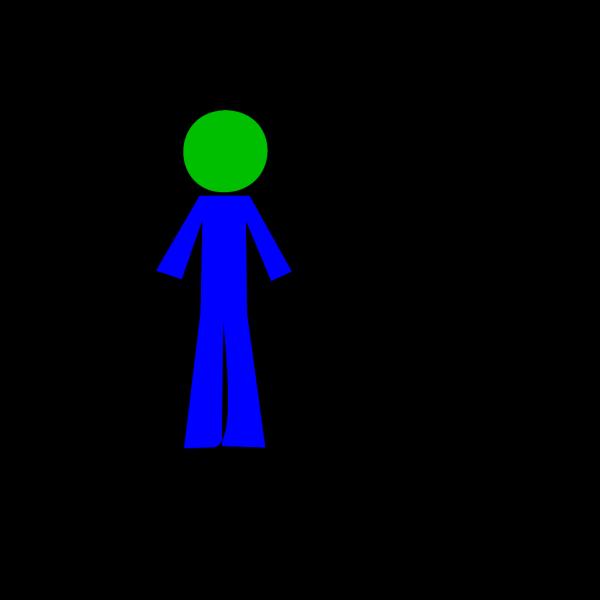 Personstickbluegreen PNG Clip art