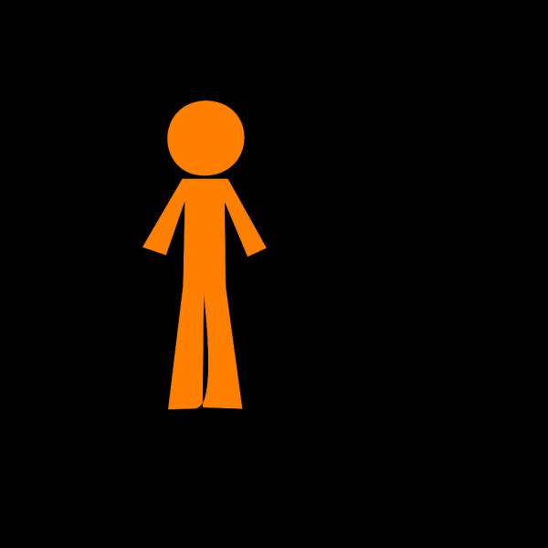 Personstickorangeblue PNG Clip art
