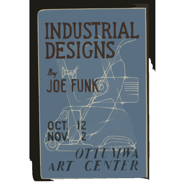 Industrial Designs By Joe Funk, Ottumwa Art Center  / Designed & Made By Iowa Art Program, W.p.a. PNG images