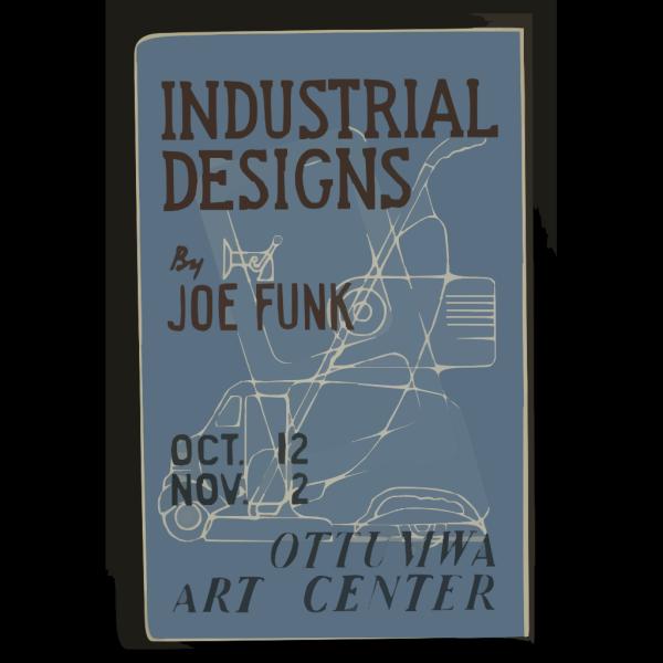 Industrial Designs By Joe Funk, Ottumwa Art Center  / Designed & Made By Iowa Art Program, W.p.a. PNG Clip art