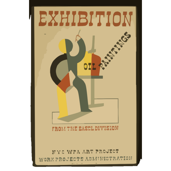 Exhibition Oil Paintings From The Easel Division : N.y.c. Wpa Art Project, Work Projects Administration. PNG Clip art