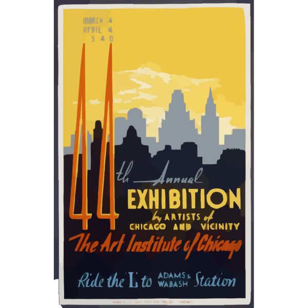 44th Annual Exhibition By Artists Of Chicago And Vicinity--the Art Institute Of Chicago  / Buczak. PNG Clip art
