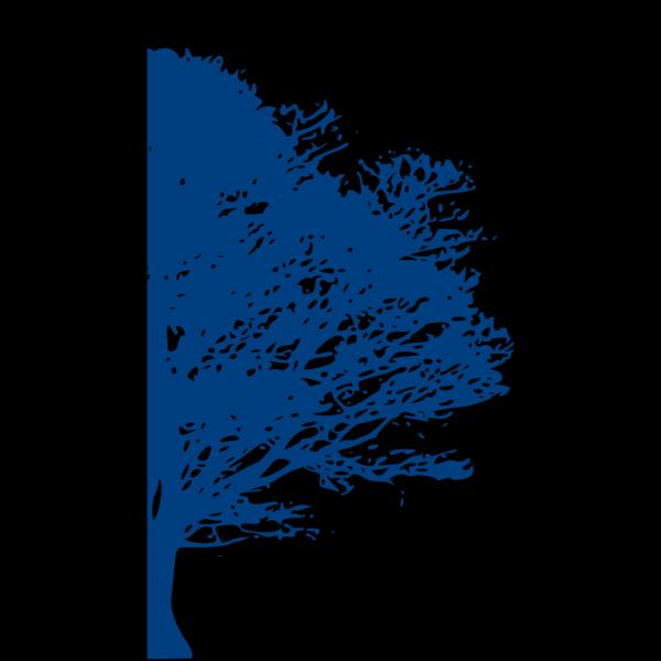 Blue Tree Half PNG Clip art