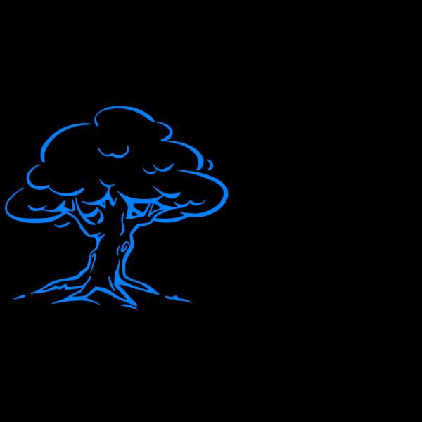 Blue Tree Sm-logo PNG Clip art