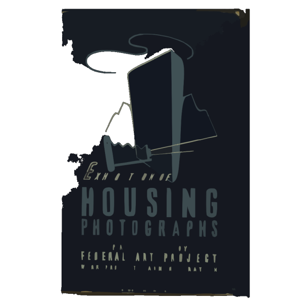 Exhibition Of Housing Photographs Produced By Federal Art Project, Work Projects Administration / M.a. PNG Clip art