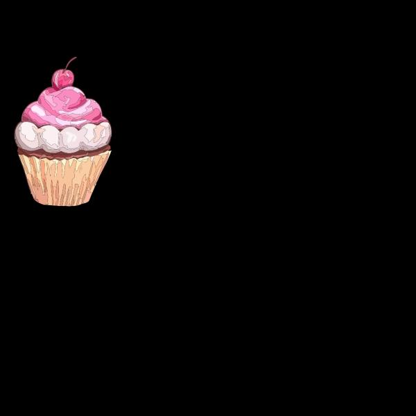 Cupcake Yelllow/blue PNG Clip art