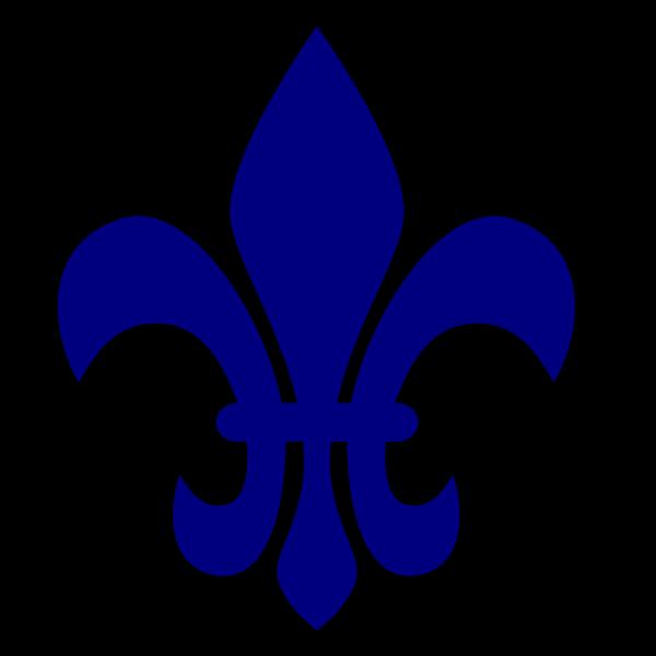 Royal Blue Fleur De Lis PNG clipart