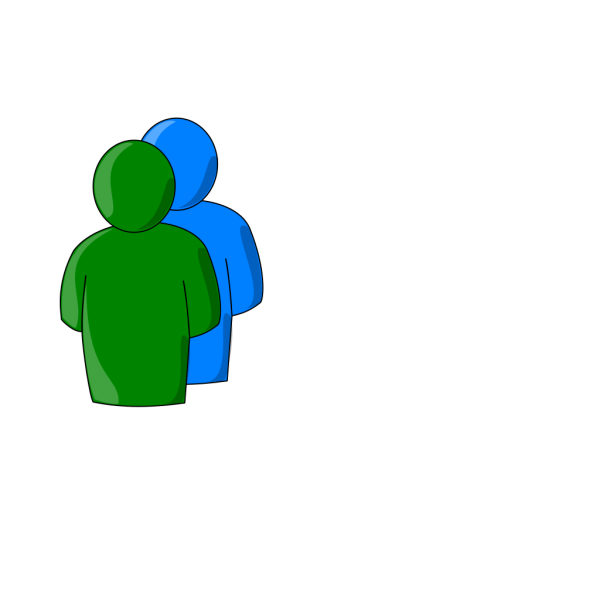 Multiple Users 2 Green Blue PNG Clip art