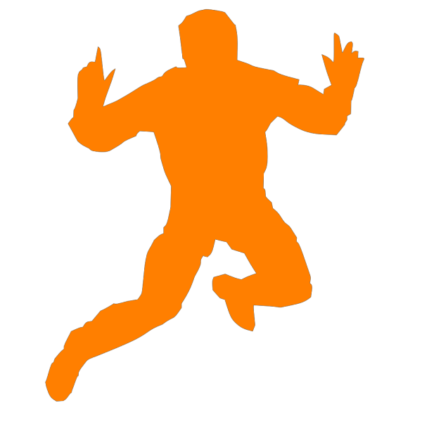 Solid Blue Man Jumping PNG Clip art