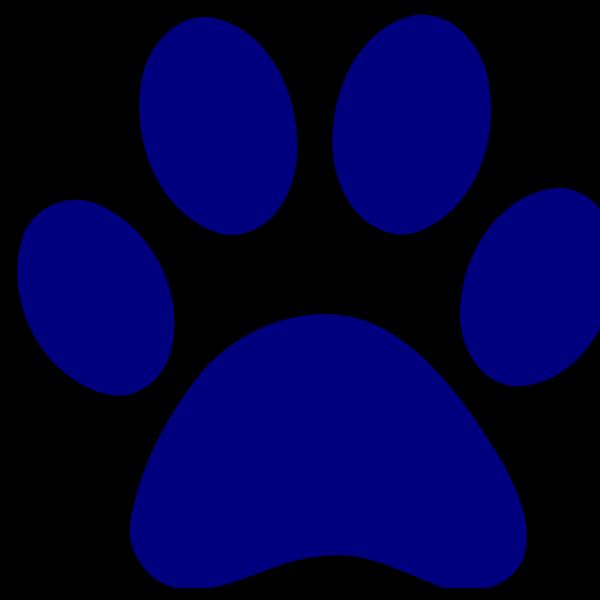 Dark Blue Paw Print PNG Clip art