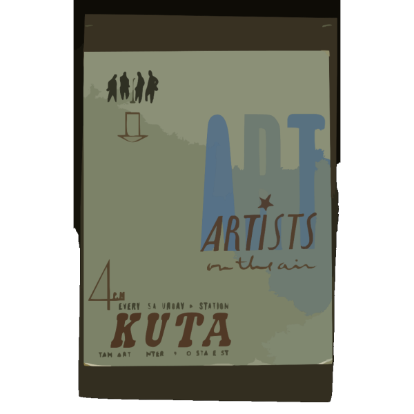Art Artists On The Air : 4 P.m. Every Saturday, Kuta. PNG Clip art