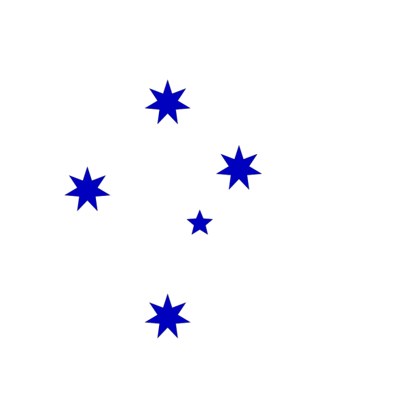 Blue Southern Cross PNG Clip art