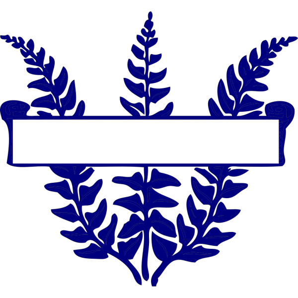 Blue Fern Scroll PNG images