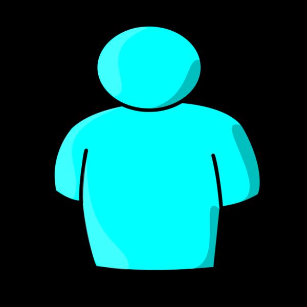 Light Blue Person PNG Clip art