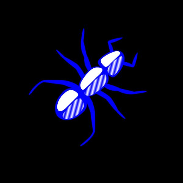 Ant Outline Blue PNG Clip art