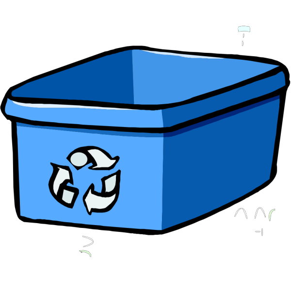 Recycle Bin Blue PNG Clip art