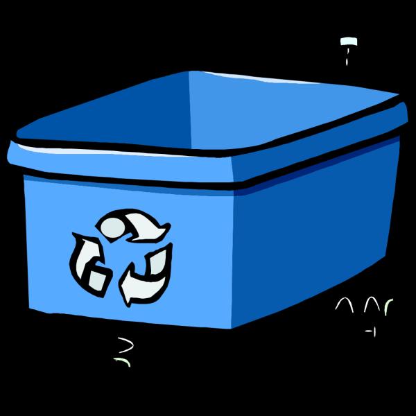 Recycle Bin Blue PNG Clip art
