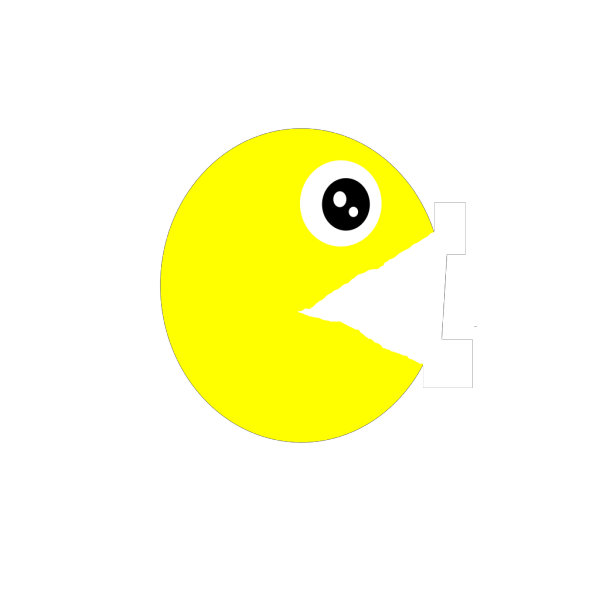 Pacman Ghost Left Looking PNG clipart
