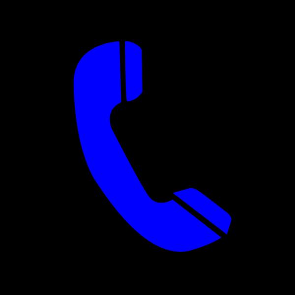 Phone Blue PNG Clip art