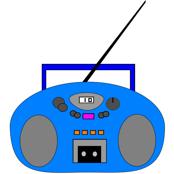 Blue Radio PNG images