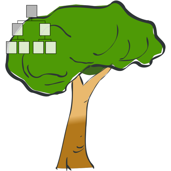 Family Tree Blue PNG Clip art