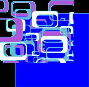 Retro In Blue PNG Clip art