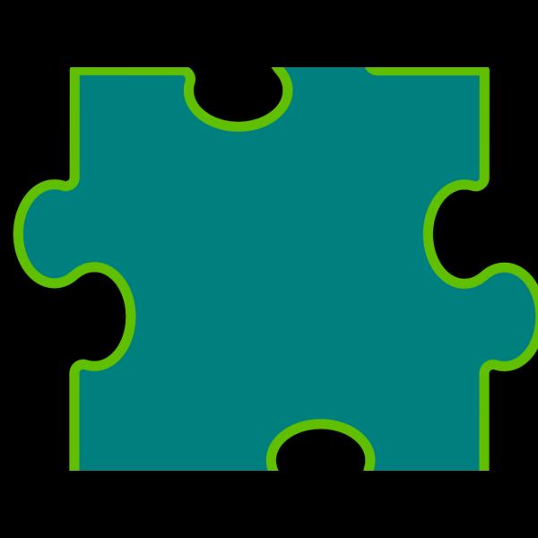 Blue-green Puzzle Piece PNG Clip art