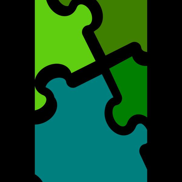 Jigsaw-4-colors PNG Clip art